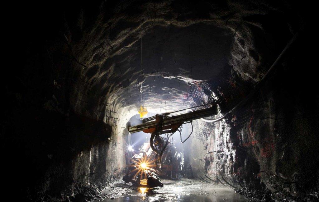 Bild eines Bohrlochs im Bergbau