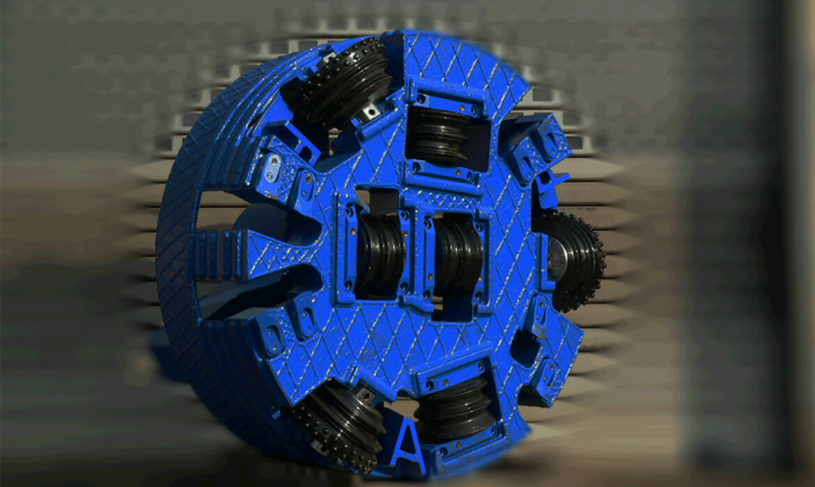 Drill head tunnelling